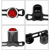 Rechargeable Mini LED Bicycle Rear Light - All Views