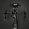 USB Rechargeable Mini LED Bicycle Rear Light - Back View Display