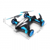 Remote Control Flying Car Drone - Front Side View Dimension