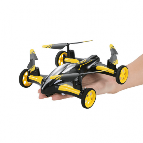 Yellow Remote Control Flying Car Drone